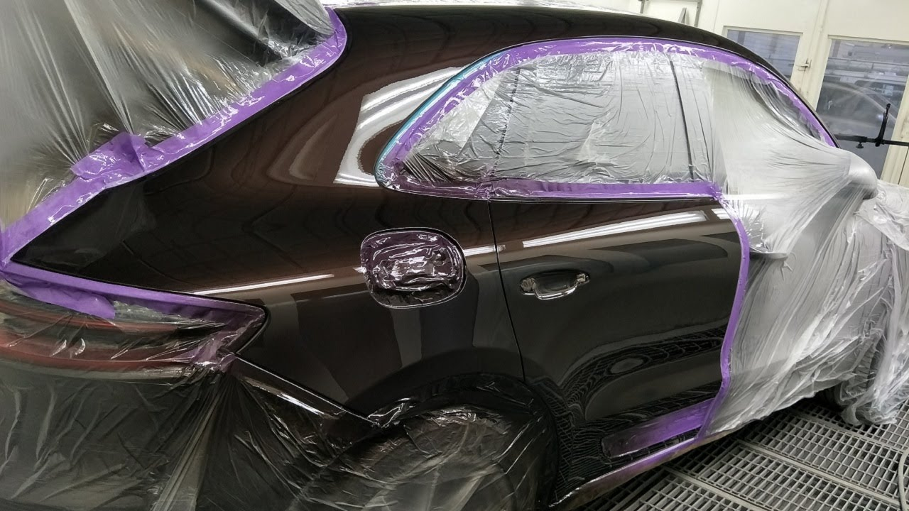 Porsche Macan S Spray Painting Mahogany Youtube