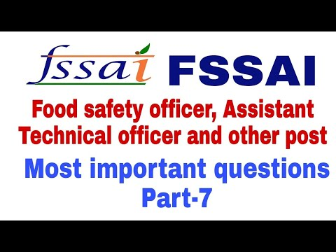 Repeat Fssai most important questions।Food Microbiology