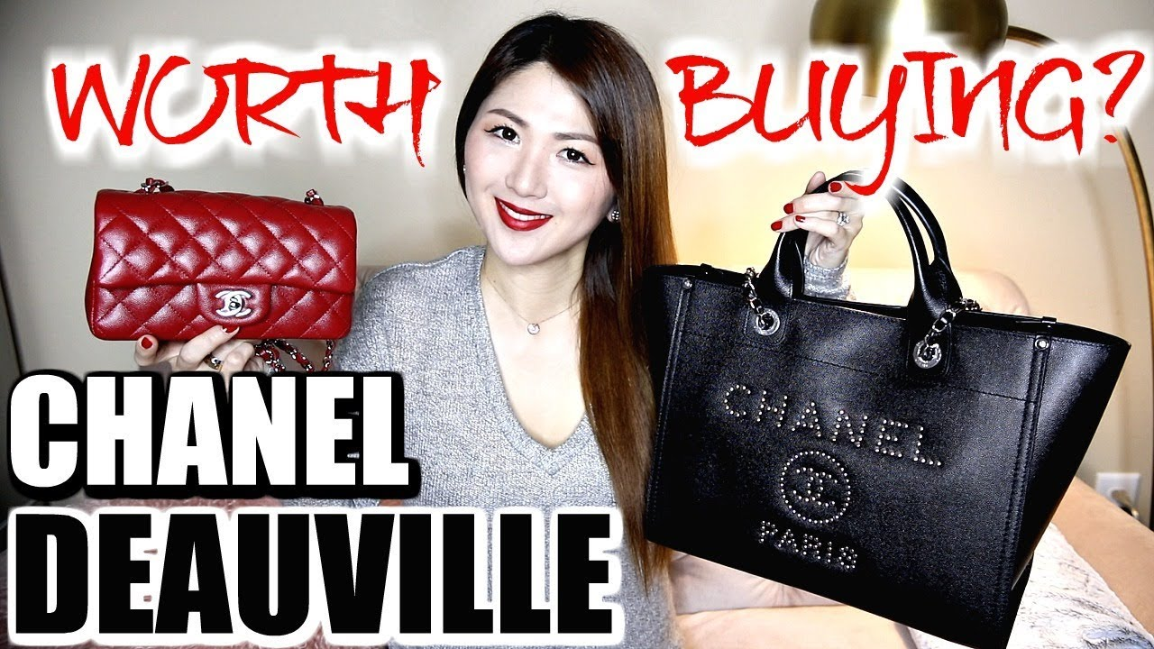 06d3ae24628b WHAT S IN MY CHANEL DEAUVILLE TOTE + MINI FLAP❤️OVERVIEW ...