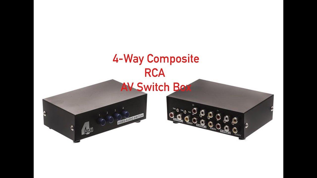 4Way Composite RCA AV Switch Box P47200010 YouTube