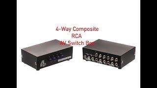 4-Way Composite RCA AV Switch Box P#47-200-010