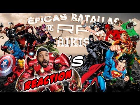 Vengadores vs Liga de la Justicia. Épicas Batallas de Rap del Frikismo | Keyblade | Video Reaccion