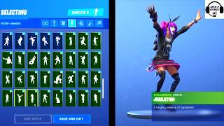 Fortnite Season 7 Lace Skin All Dances and Emotes Fortnite Tüm Danslar