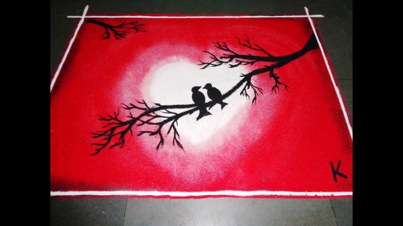 Poster design rangoli - Valentines Day Special Latest Rangoli