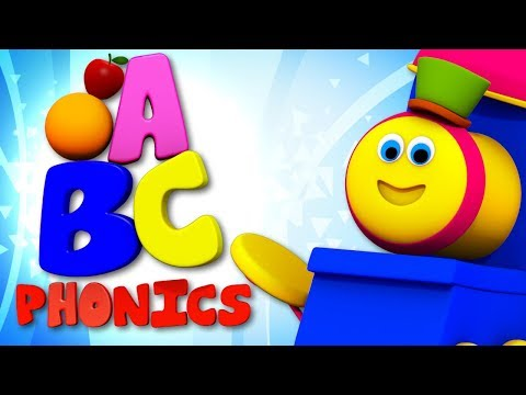 A to Z Phonics Song  Learning Street With Bob The Train Cartoons