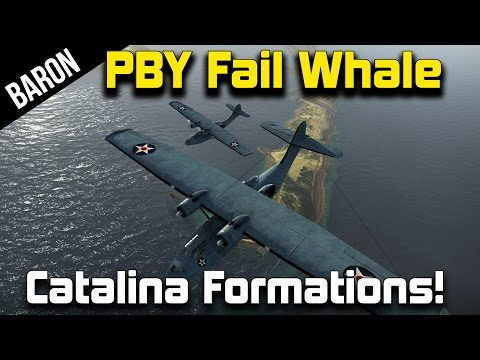 War Thunder - PBY Catalina Fail Whale - PBY Bomber Formations vs Ships!