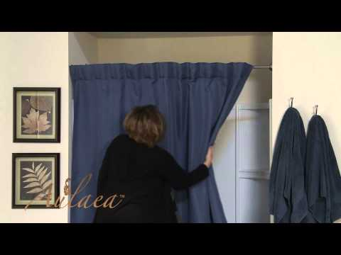 Aulaea Infinity Collection: Fabric Shower Curtain and Liner Installation