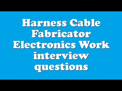 hqdefault harness cable fabricator electronics work interview questions wiring harness design interview questions at reclaimingppi.co