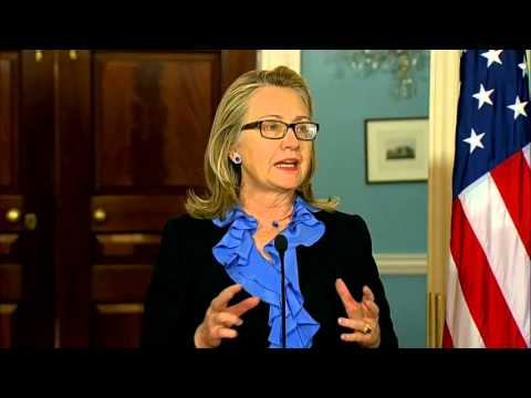 Secretary Clinton Delivers Remarks With President of Somalia Hassan Sheikh
