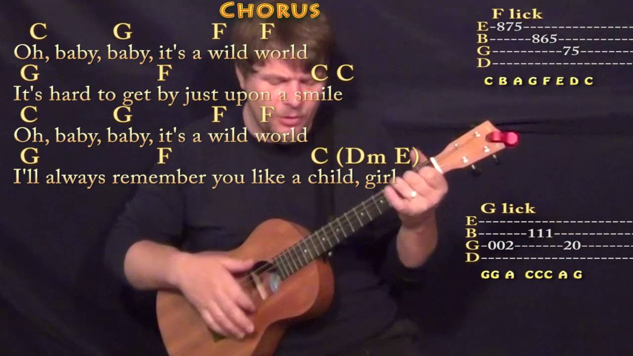 Wild World Cat Stevens Bariuke Cover Lesson With Chordslyrics