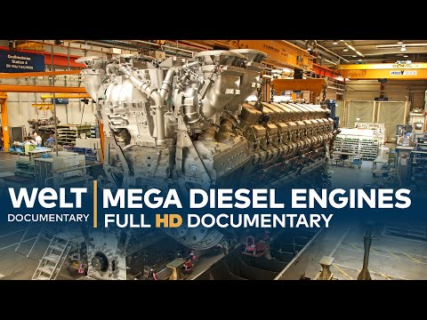 Mega Diesel Engines - How To Build A 13,600 HP Engine   Full Documentary
