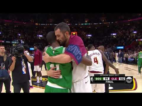 Kyrie Irving Handshakes With Former Teammates - Celtics vs Cavs - Oct 17, 2017 - 2017/18 NBA Season