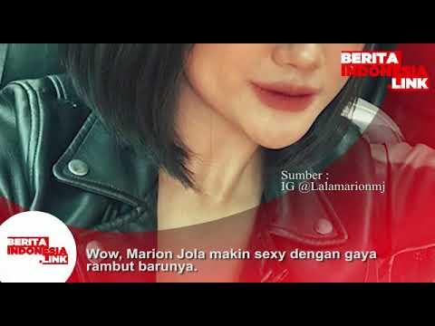 Marion Jola makin fresh dan sexy dengan gaya rambut barunya.