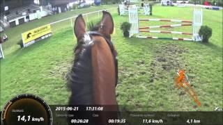 Jazda Konna-skoki  HIPODROM WOLA SONY HDR-AS100 GPS