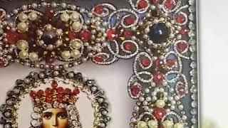 """Обзор набора вышивки иконы святой Ирины, от фирмы """"Образа в каменьях"""". А так же обзор готовой работы"""