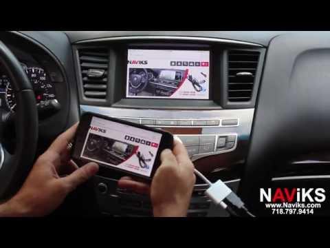 2014 Infiniti QX60 NAViKS HDMI Video Interface Add: Smartphone Mirroring