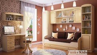 Детская комната Фанки Крем - комплект 4. Корпусная и модульная мебель. Интернет-магазин