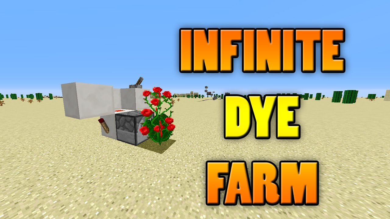 Minecraft Tutorials 8.8 ~ Infinite Dye Farm - YouTube