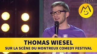Thomas Wiesel sur la scène du Montreux Comedy Festival
