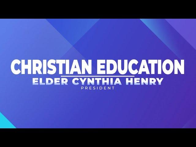 CHRISTIAN EDUCATION | SUFFR. BISHOP JOSEPH DUNN