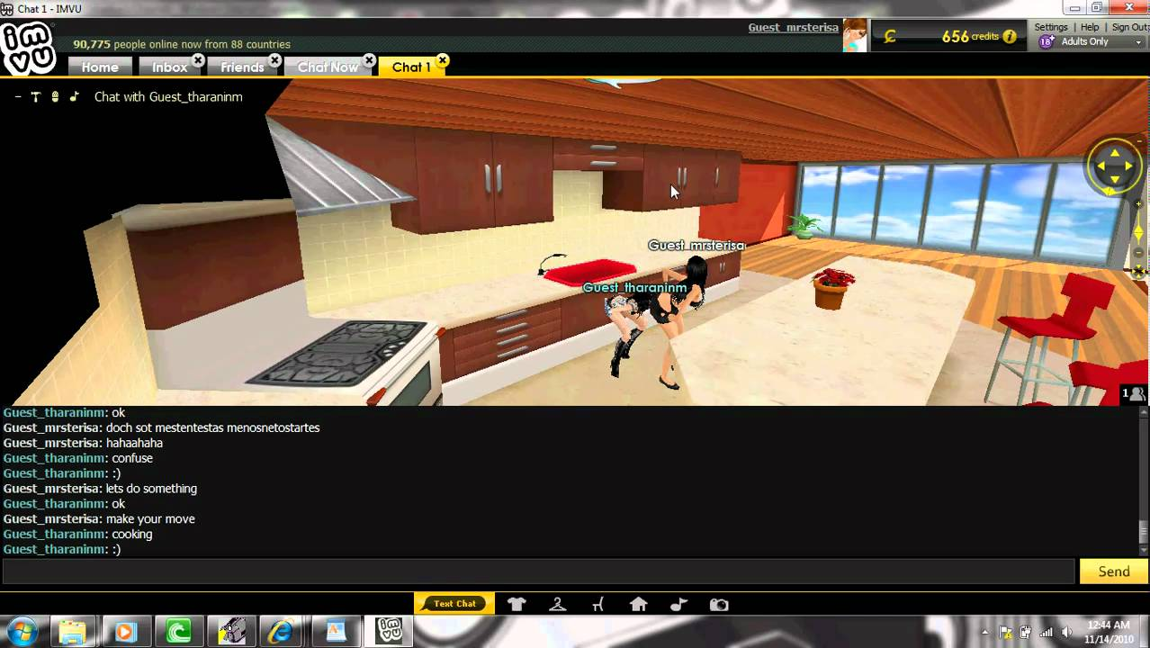 Imvu 2 Hot Girls Making Out And More - Youtube
