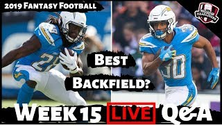 2019 Fantasy Football Advice - LIVE Sunday Q&A Answering Your Week 15 Fantasy Football Questions