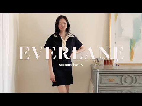 EVERLANE SUMMER HAUL | linen, denim shorts, trench coat, track collection review + more!