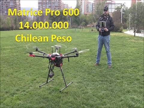 Meet the DJI Matrice Pro 600 Price tag 14.000.000 Chilean Peso