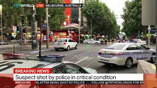 Melbourne attacker shot in chest after lunging at officer