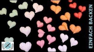 Deko Herzen auf Baiser Masse | Baiser selber machen | Meringue
