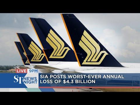 SIA posts worst ever annual loss of $4.3 billion | ST NEWS NIGHT