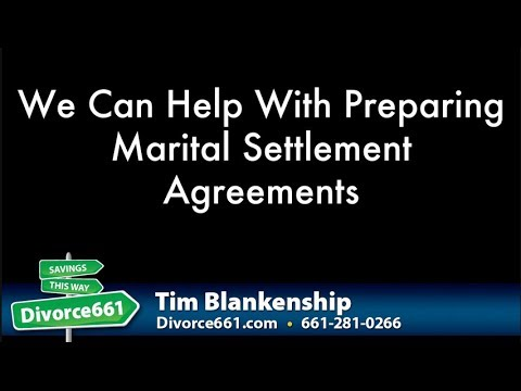 California Divorce Marital Settlement Agreement | Divorce Agreement Assistance