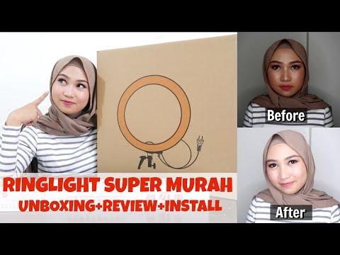 UNBOXING RING LIGHT SUPER MURAH | REVIEW + INSTALL | RAFFARAN QUEEN