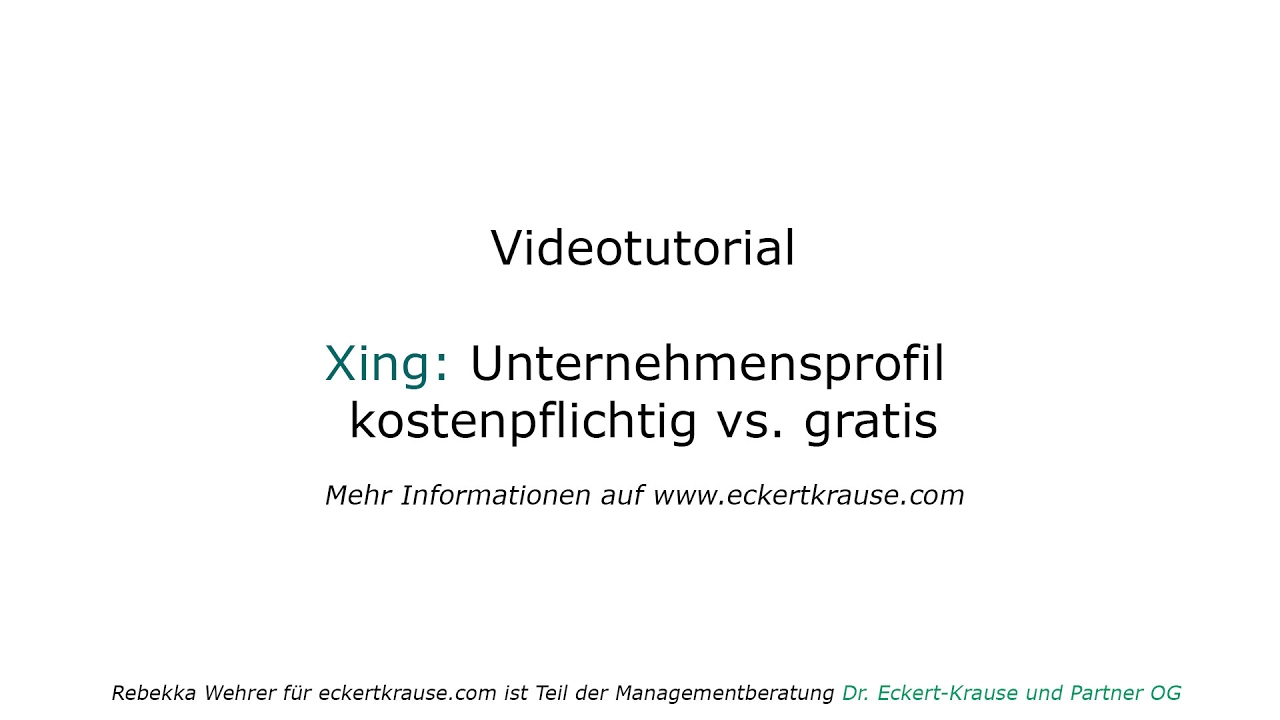 Xing Unternehmensprofile kostenfrei vs. Employer Branding - YouTube