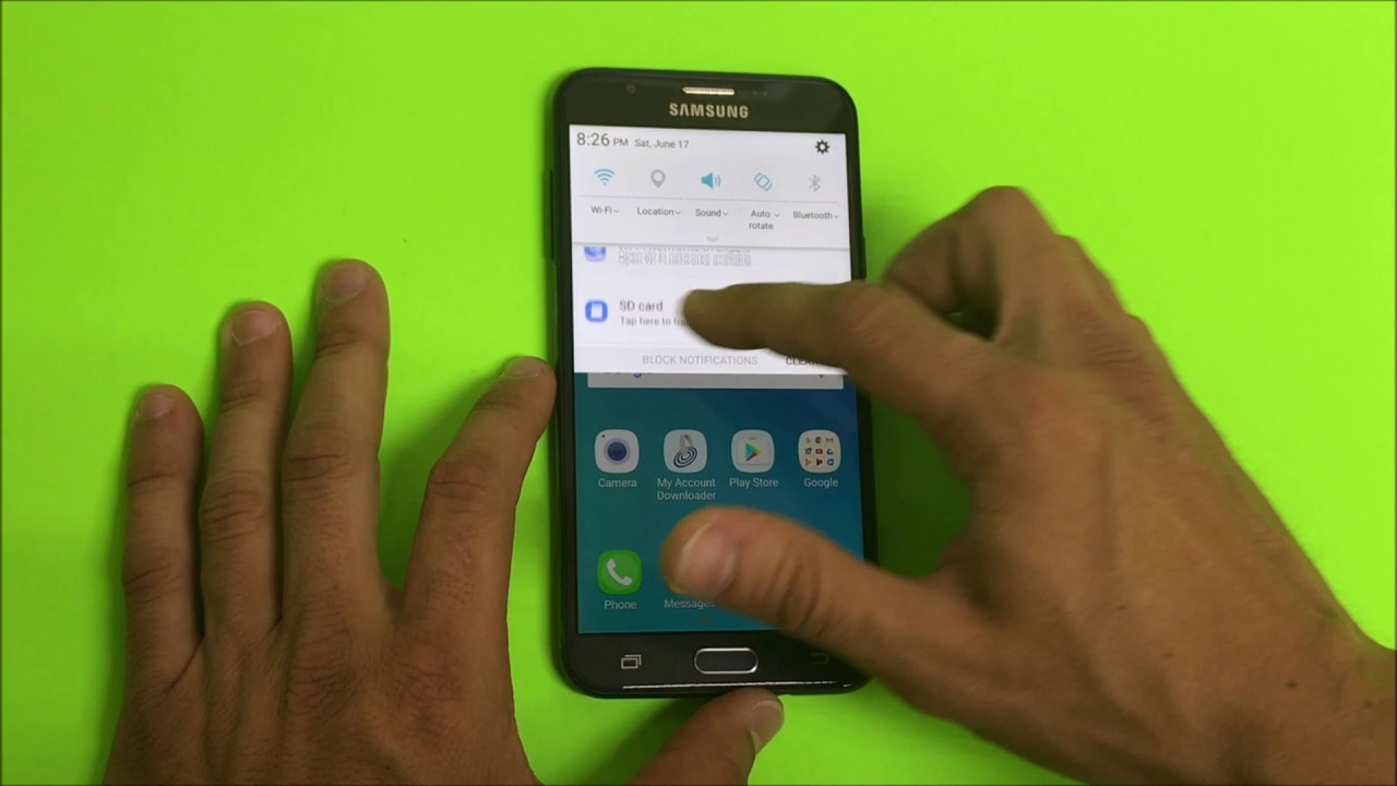 How To Install Sd And Sim Card Into Samsung Galaxy J7 Sky Pro