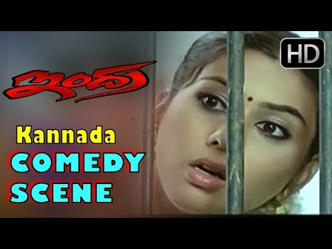Kannada Comedy Scenes | Darshan comes to meet Vinayaprasad | Indra Kannada Movie