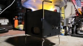 3'' Folding Firebox Nano - Mini Trangia - Boil Test#1