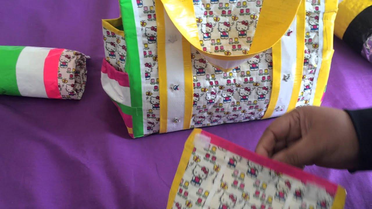 ecb645e1bc40 WHATS IN MY DIAPER BAG  Minion and Hello Kitty diaper bag sets ...