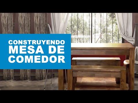 Cómo construir una mesa de comedor? - YouTube