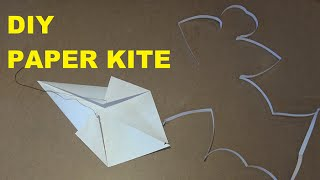 dIY PAPER KITE - How to make a simple Kite in 10 minutes - Easy for Kids  | Mekong Kite