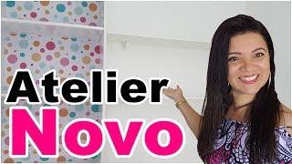 O NOVO ATELIER FICOU PRONTO| Móveis, Arrumação, Colocação do Vidro | Viviane Magalhães