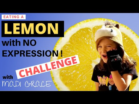 Eating A Lemon With No Expression Challenge!!!!