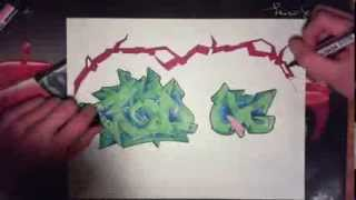 graffiti speed drawing sur papier pour CoD QG