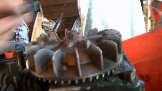 demontage volant magnetique moteur tondeuse.volant magnetique tecumseh