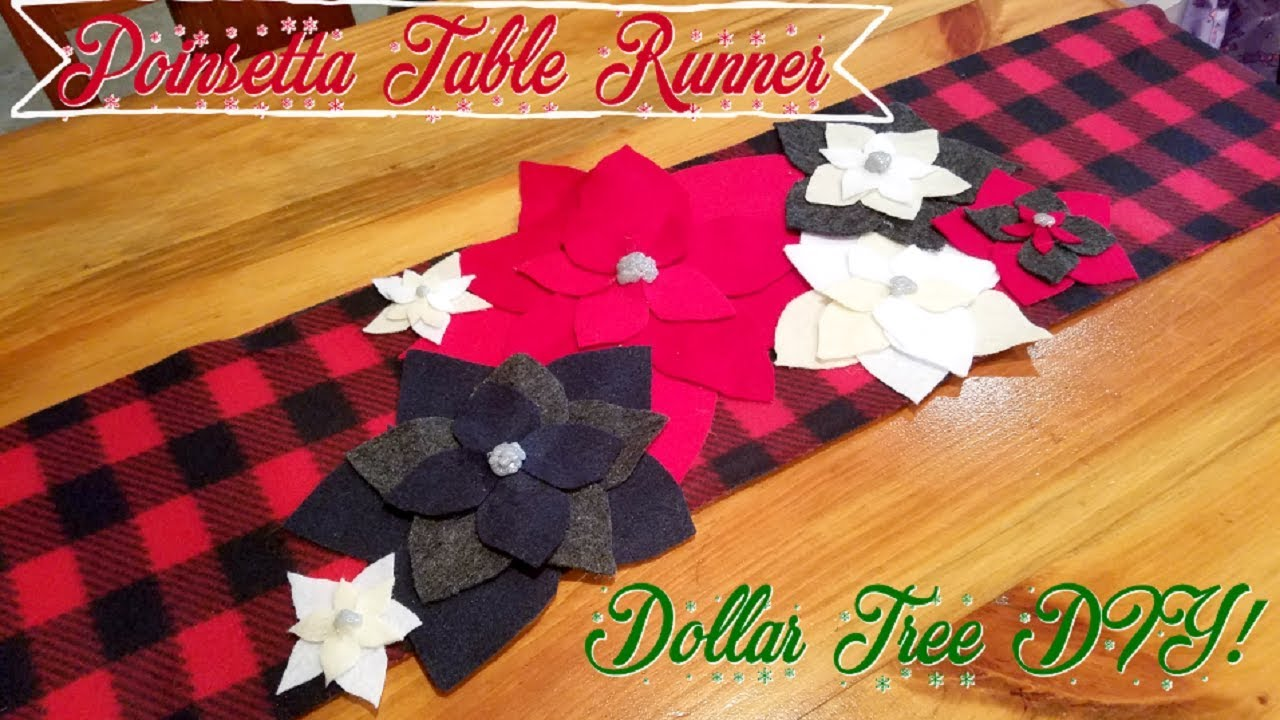 Christmas Table Runner Diy.Dollar Tree Diy Christmas Table Runner
