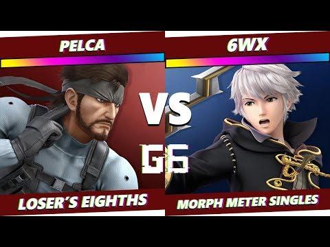 Glitch 6 SSBU - Pelca (Snake) VS 6WX (Robin) - Smash Ultimate Morph Meter L8