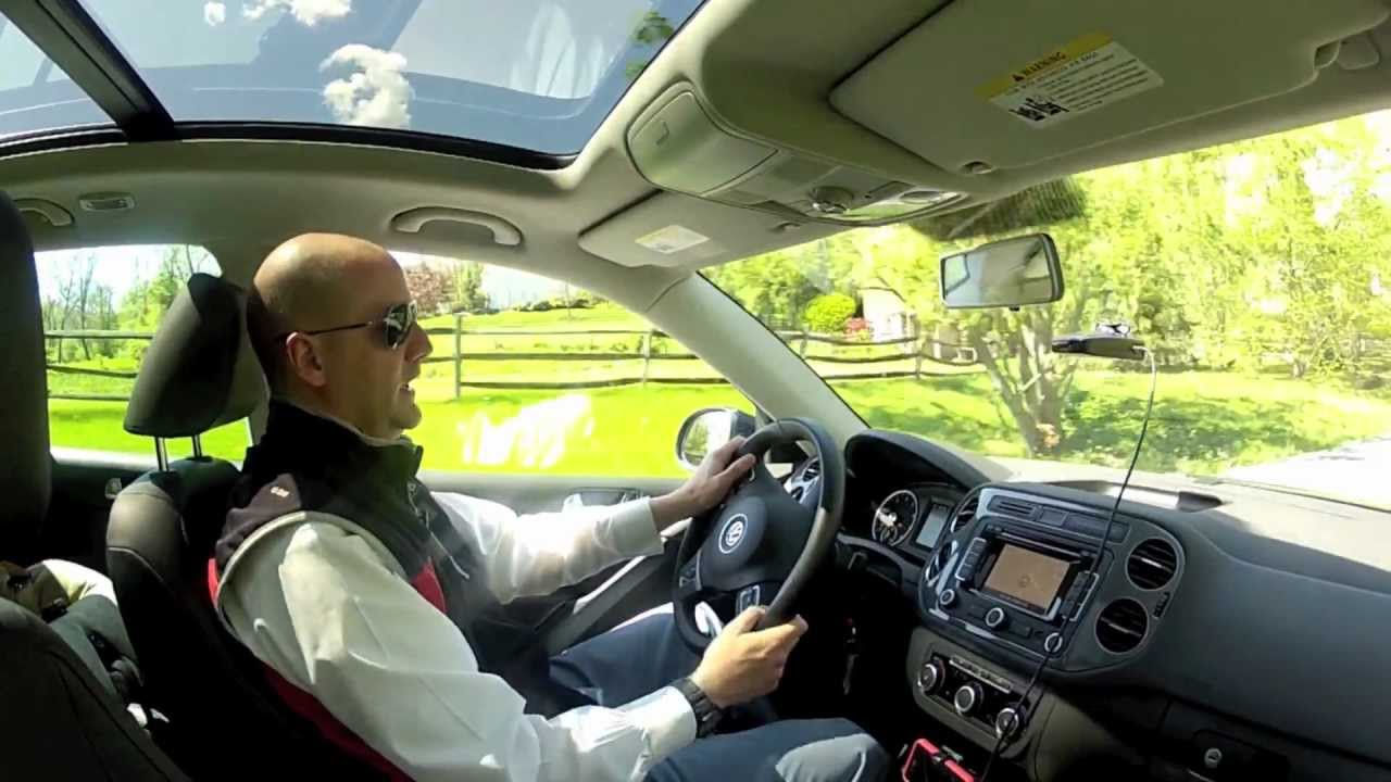2012 Volkswagen Tiguan SE 2WD Sun and Nav Test Drive and Video Review - YouTube
