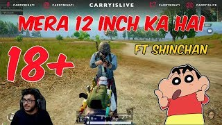 CARRYMINATI TROLLS RANDOM PLAYER IN SHINCHAN VOICE | CARRYISLIVE PUBG MOBILE HIGHLIGHTS