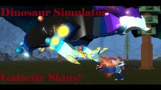 Roblox Dinosaurier Simulator - Gameplay Video von den galaktischen Skins von den Devs