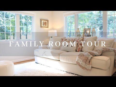 Family Room Tour    Carport Conversion ♡ MissJustinaMarie